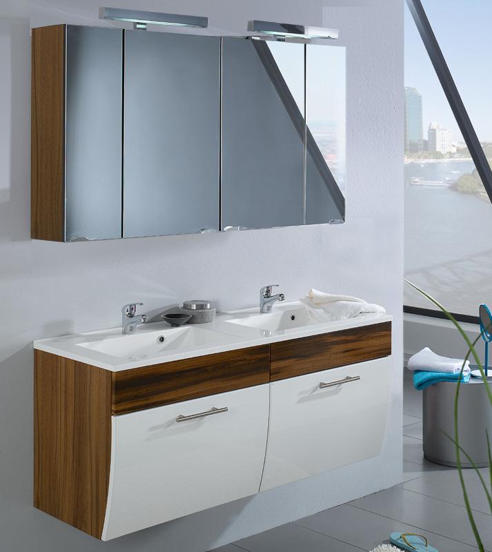 badezimmer led spiegelschrank walnuss badm bel badspiegel bad spiegel schrank ebay. Black Bedroom Furniture Sets. Home Design Ideas