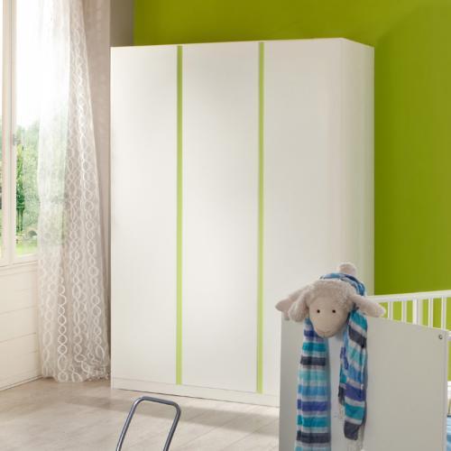135cm Kinderzimmer Kleiderschrank weiß grün Schlafzimmer Schrank ...