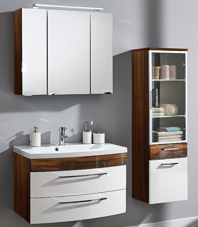 badezimmer spiegelschrank walnuss nb spiegel badm bel badspiegel badezimmerm bel ebay. Black Bedroom Furniture Sets. Home Design Ideas