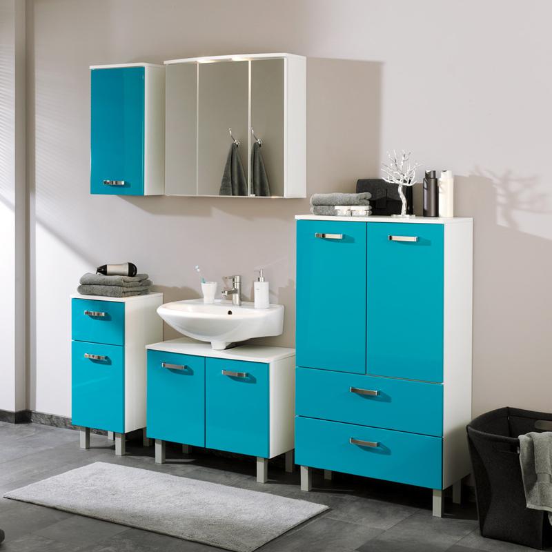 badset hochglanz t rkis wei badezimmerm bel badm bel. Black Bedroom Furniture Sets. Home Design Ideas