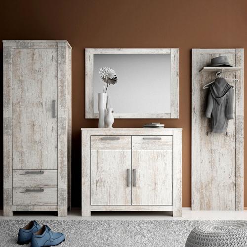 wow garderoben set vintage pine kommode flurm bel. Black Bedroom Furniture Sets. Home Design Ideas