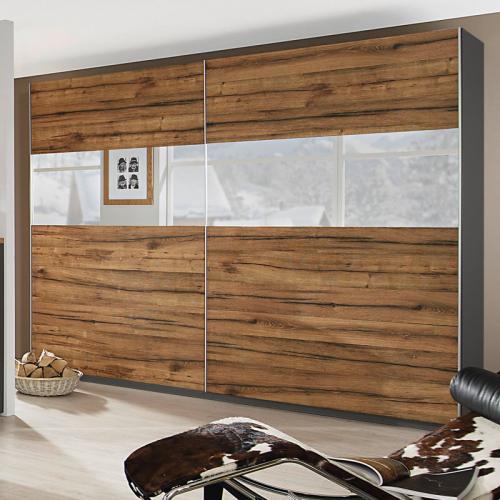 neu 181cm kleiderschrank wildeiche rauch schwebet renschrank schlafzimmerschrank ebay. Black Bedroom Furniture Sets. Home Design Ideas