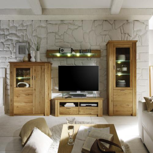 wohnwand wildeiche massiv ihr traumhaus ideen. Black Bedroom Furniture Sets. Home Design Ideas