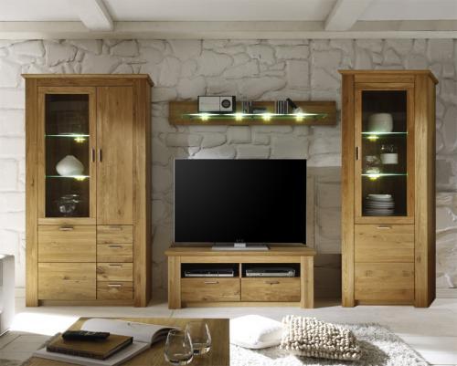 wohnwand set wildeiche massiv ge lt und gewachst. Black Bedroom Furniture Sets. Home Design Ideas