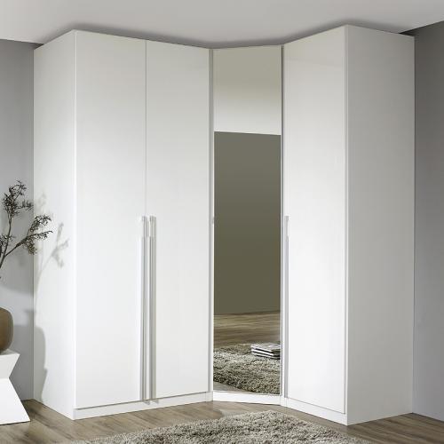eckkleiderschrank hochglanz wei schlafzimmerschrank kleiderschrank eckschrank ebay. Black Bedroom Furniture Sets. Home Design Ideas