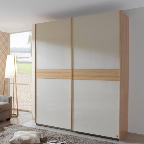 neu kleiderschrank 226cm rauch buche natur wei schlafzimmerschrank flurschrank ebay. Black Bedroom Furniture Sets. Home Design Ideas