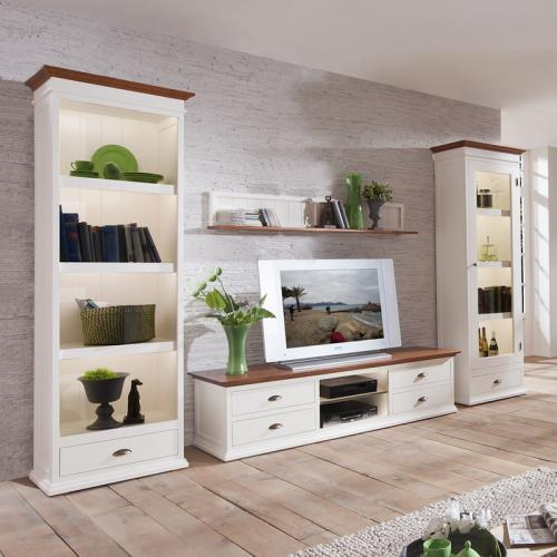 landhaus wohnzimmer komplett set altwei wohnwand tv lowboard sideboard vitrine ebay. Black Bedroom Furniture Sets. Home Design Ideas