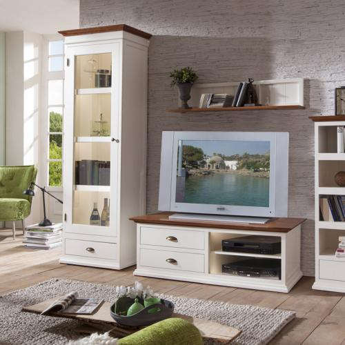 wow landhaus wohnzimmer set altwei wohnwand lowboard highboard hifi tv board ebay. Black Bedroom Furniture Sets. Home Design Ideas