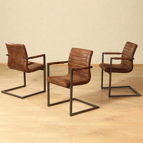 wow 2x schwingstuhl kunstleder armlehnstuhl b rostuhl. Black Bedroom Furniture Sets. Home Design Ideas