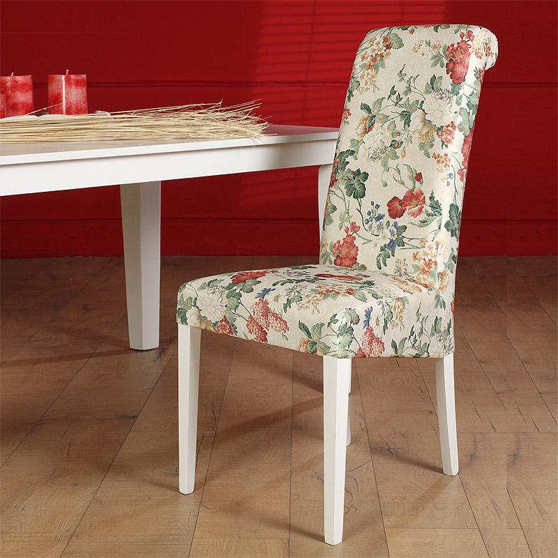 2x polsterstuhl massiv stoff flower esszimmerstuhl esszimmer stuhl k chenstuhl ebay. Black Bedroom Furniture Sets. Home Design Ideas