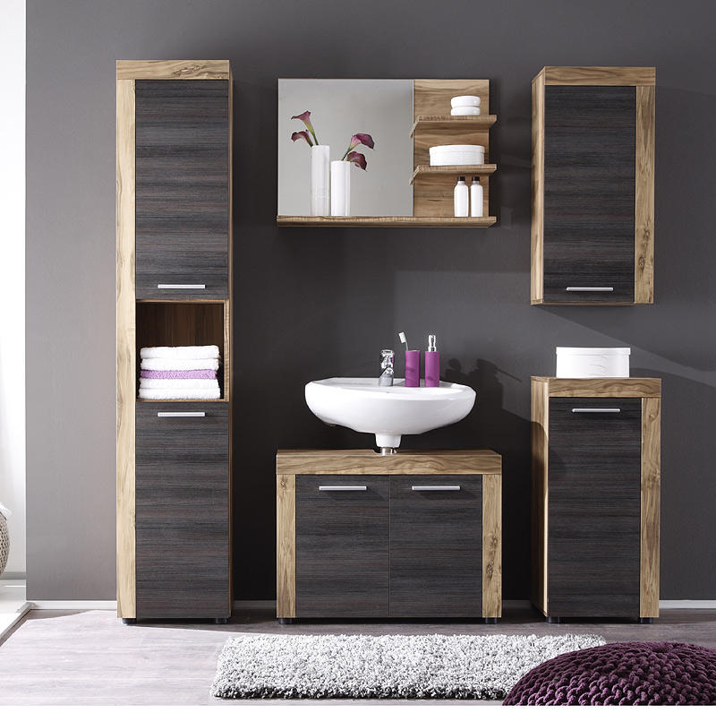 badezimmer unterschrank nussbaum braun badm bel. Black Bedroom Furniture Sets. Home Design Ideas