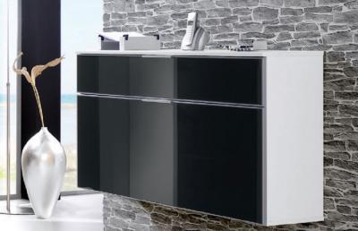 schuhschrank schuhkipper weiss glasfront anthrazit ebay. Black Bedroom Furniture Sets. Home Design Ideas