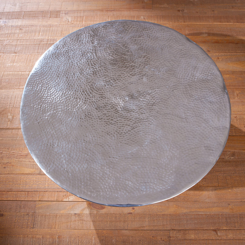 Couchtisch Lounge Wohnzimmertisch PELAS Alu 70x70x30cm