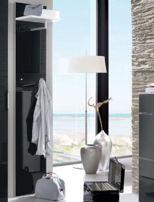 Edles garderobenpaneel garderobe glas in anthrazit for Garderobe glas