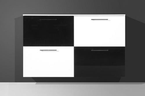 schuhschrank schrank flurm bel modern weiss schwarz ebay. Black Bedroom Furniture Sets. Home Design Ideas