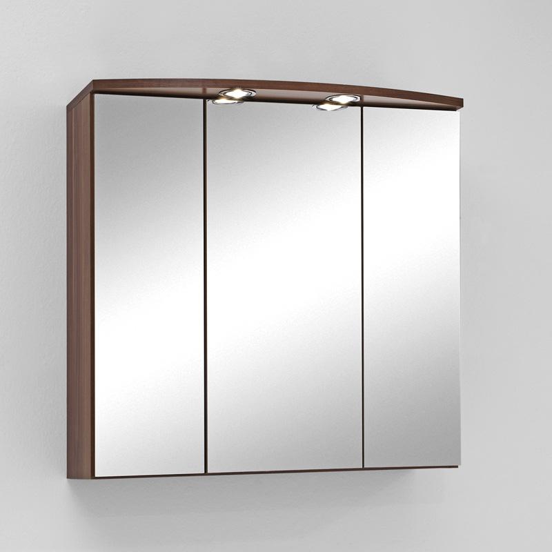 Badezimmer Spiegelschrank Nussbaum Wandspiegel Badmöbel