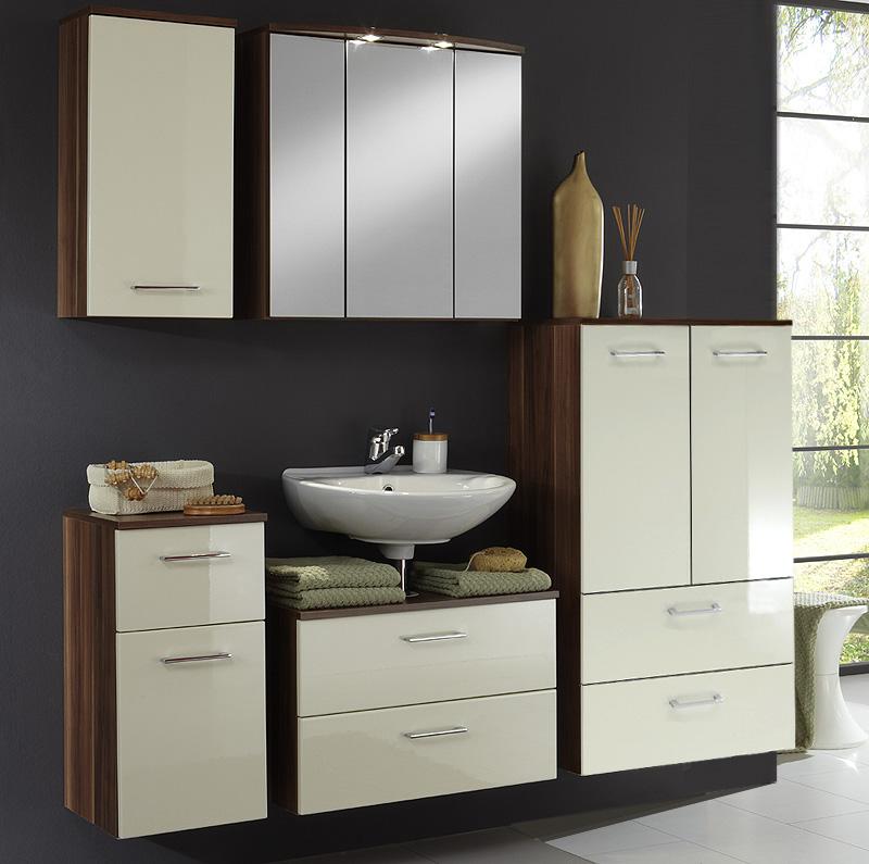 badezimmer spiegelschrank nussbaum wandspiegel badm bel badschrank spiegel bad ebay. Black Bedroom Furniture Sets. Home Design Ideas