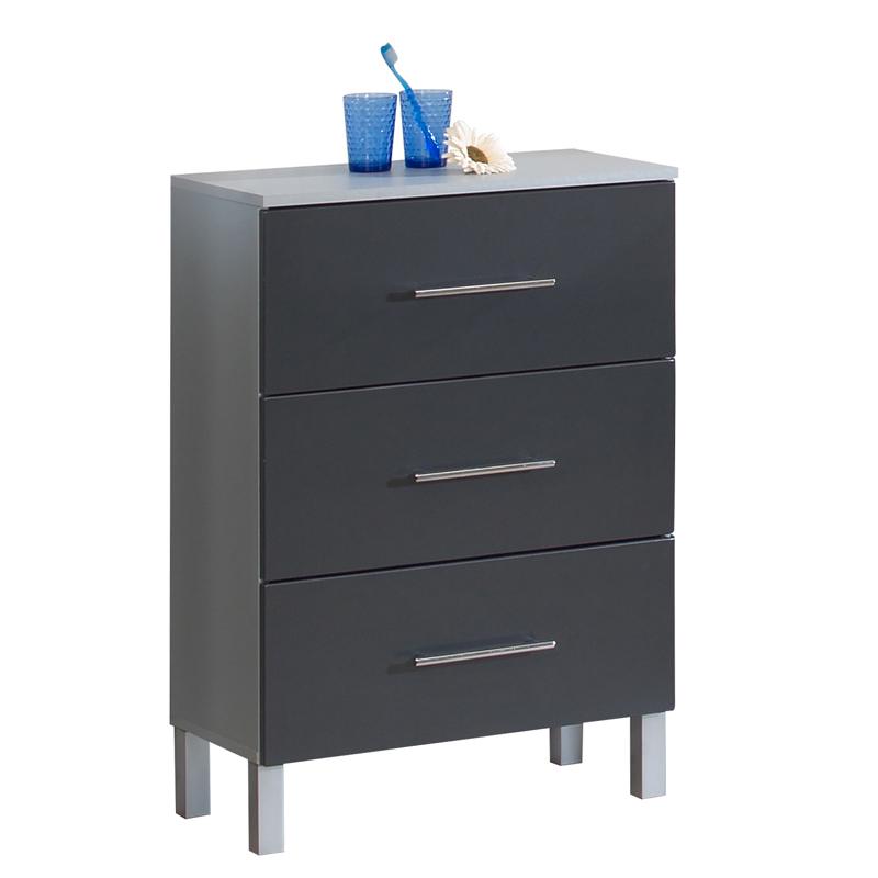 badezimmer unterschrank hochglanz anthrazit badschrank badm bel badezimmerm bel ebay. Black Bedroom Furniture Sets. Home Design Ideas