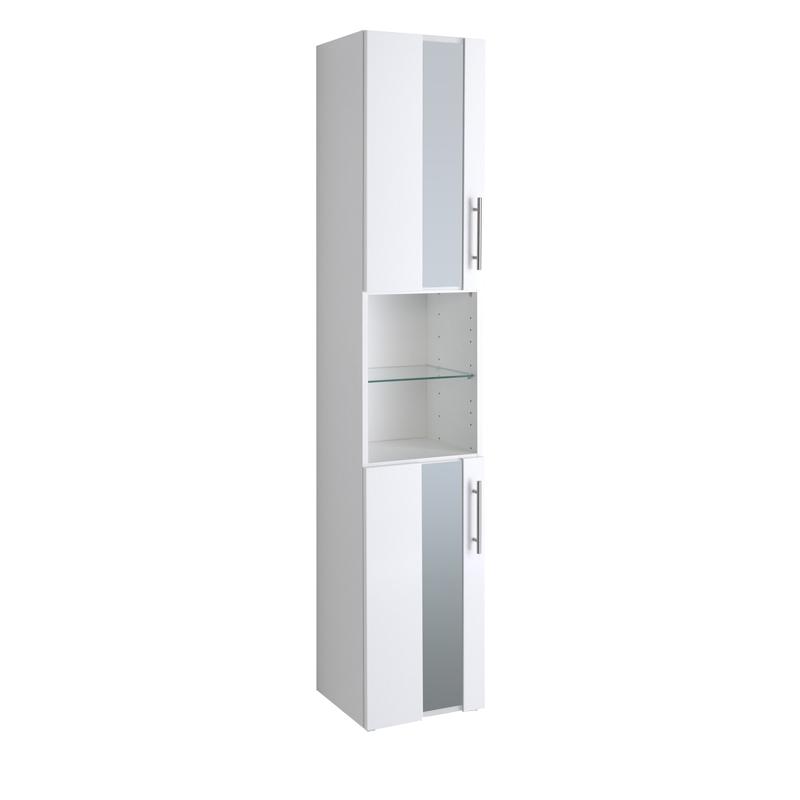 badezimmer seitenschrank hochglanz wei hochschrank badezimmerschrank badschrank ebay. Black Bedroom Furniture Sets. Home Design Ideas