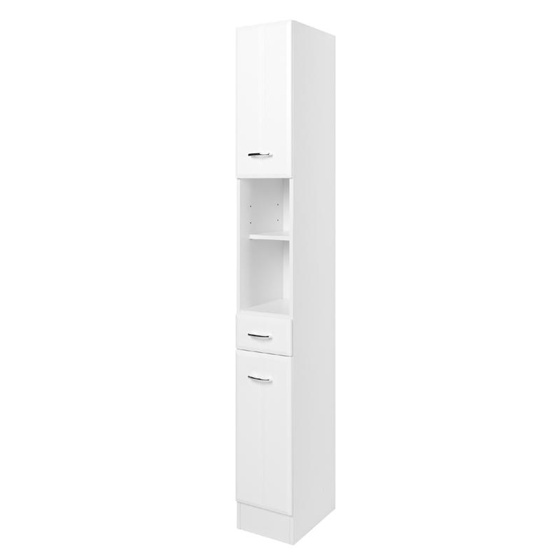 badezimmer hochschrank wei highboard badschrank badm bel badezimmerschrank bad ebay. Black Bedroom Furniture Sets. Home Design Ideas