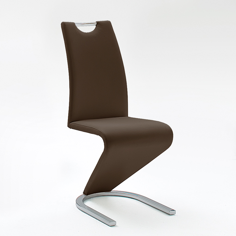 6er set schwingstuhl kunstleder 5 farben 6x freischwinger esszimmer polsterstuhl. Black Bedroom Furniture Sets. Home Design Ideas
