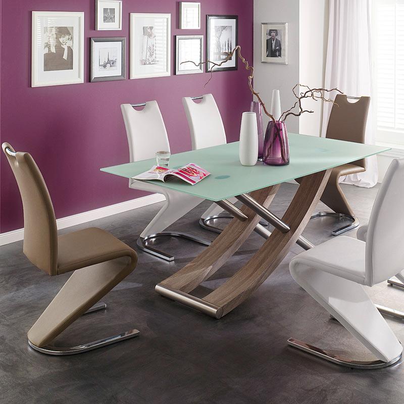 6er set schwingstuhl kunstleder 5 farben 6x freischwinger esszimmer polsterstuhl ebay. Black Bedroom Furniture Sets. Home Design Ideas