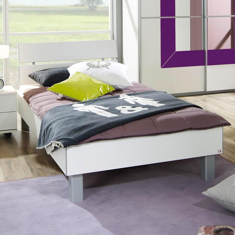 Einzelbett 90 100 120 140x200cm wei futonbett jugendbett - Kinderzimmermobel ebay ...