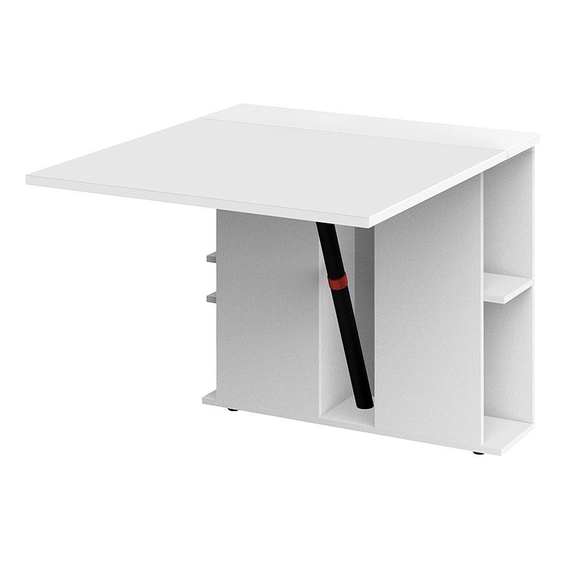 b ro anbautisch klapptisch wei mit regla laptoptisch b rom bel schreibtisch ebay. Black Bedroom Furniture Sets. Home Design Ideas