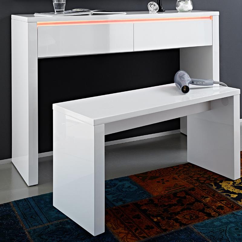 schminktisch set hochglanz wei lack schminkplatz frisiertisch kosmetiktisch ebay. Black Bedroom Furniture Sets. Home Design Ideas