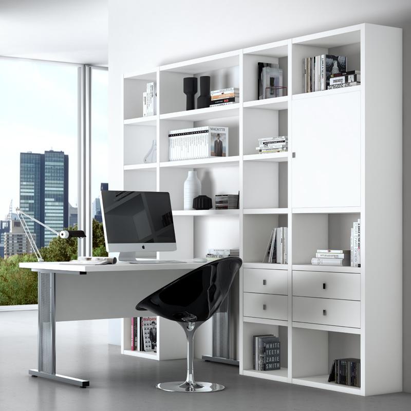 wohnwand b cherregal schreibtisch wei anbauwand cd dvd. Black Bedroom Furniture Sets. Home Design Ideas