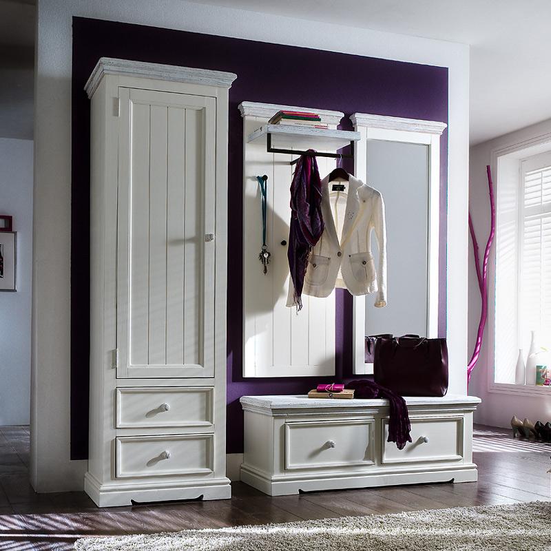 Landhaus garderobe massiv wei flurgarderobe hutablage - Kinderzimmermobel ebay ...