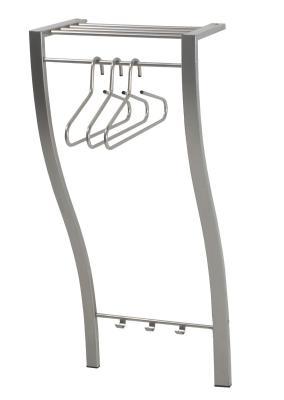 wandgarderobe garderobe hutablage edelstahl finish top ebay. Black Bedroom Furniture Sets. Home Design Ideas