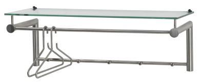 top edelstahl flurgarderobe wandgarderobe glas ablage ebay. Black Bedroom Furniture Sets. Home Design Ideas