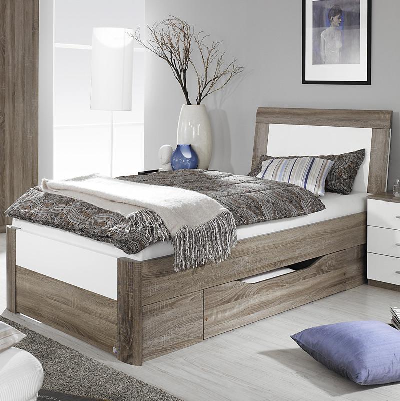 schlafzimmer bett 180x200: schlafzimmer mit bett x cm alpinweiss ... - Kingsize Bett Im Schlafzimmer Vergleich Zum Doppelbett
