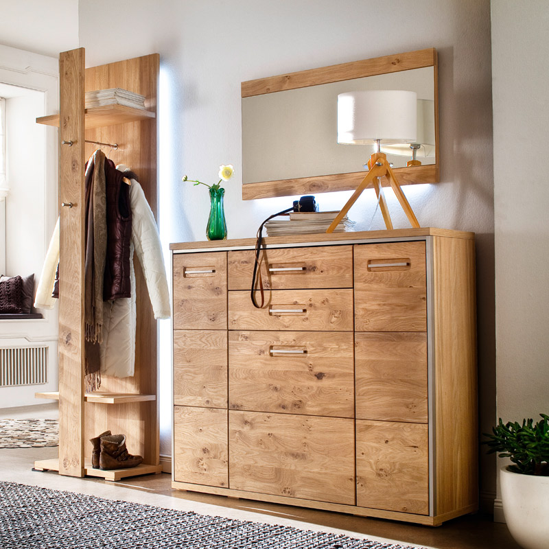 schuhschrank eiche bianco massiv schuhkommode kommode schrank dielenschrank flur ebay. Black Bedroom Furniture Sets. Home Design Ideas