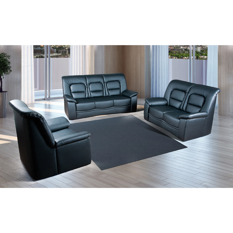 Polstergarnitur 3 2 1 kunstleder schwarz sofa sessel couch - Kinderzimmermobel ebay ...