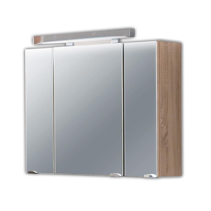 komplett badezimmer eiche sonoma spiegelschrank badm bel waschplatz waschtisch ebay. Black Bedroom Furniture Sets. Home Design Ideas