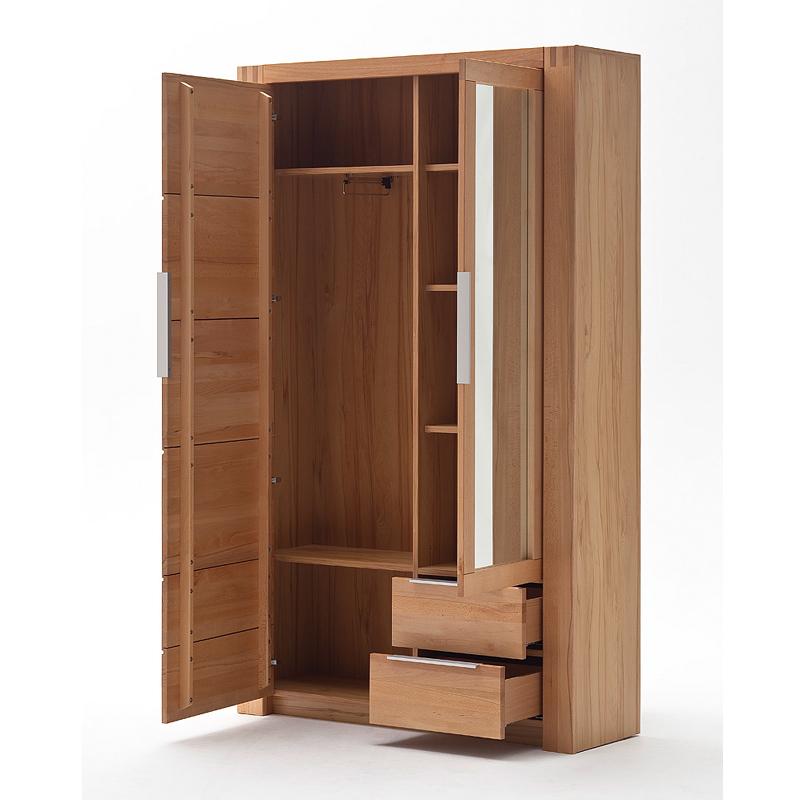 kleiderschrank kernbuche massiv garderobenschrank. Black Bedroom Furniture Sets. Home Design Ideas