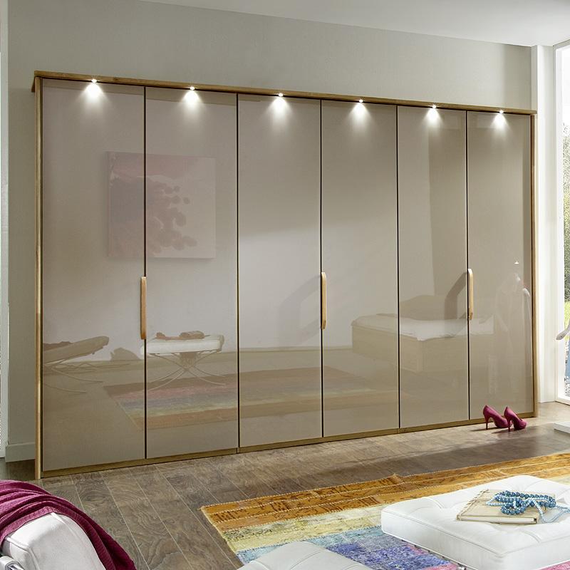 Exkl 300cm Kleiderschrank Eiche, Glas sahara modern Schlafzimmer ...