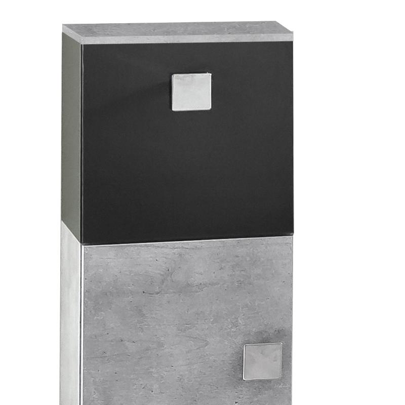 badezimmer midi hochschrank grau anthrazit badm bel. Black Bedroom Furniture Sets. Home Design Ideas