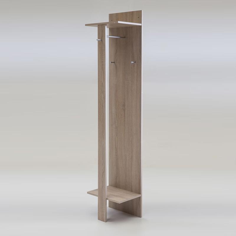 garderoben set eiche sonoma garderobenpaneel wandspiegel. Black Bedroom Furniture Sets. Home Design Ideas
