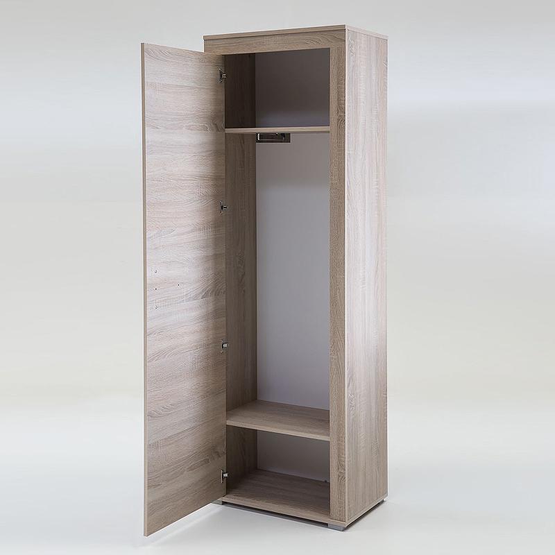garderobenschrank eiche sonoma flur kleiderschrank dielenschrank flurschrank ebay. Black Bedroom Furniture Sets. Home Design Ideas