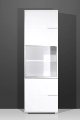 neu standvitrine schrank vitrine in hochglanz weiss ebay. Black Bedroom Furniture Sets. Home Design Ideas