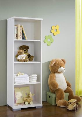 kinderzimmer standregal regal b cherregal in weiss 50cm. Black Bedroom Furniture Sets. Home Design Ideas