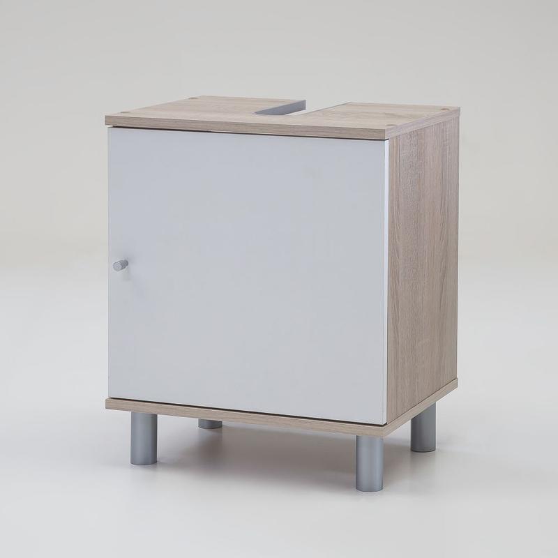 waschbeckenschrank wei eiche sonoma unterschrank badschrank badezimmerschrank ebay. Black Bedroom Furniture Sets. Home Design Ideas