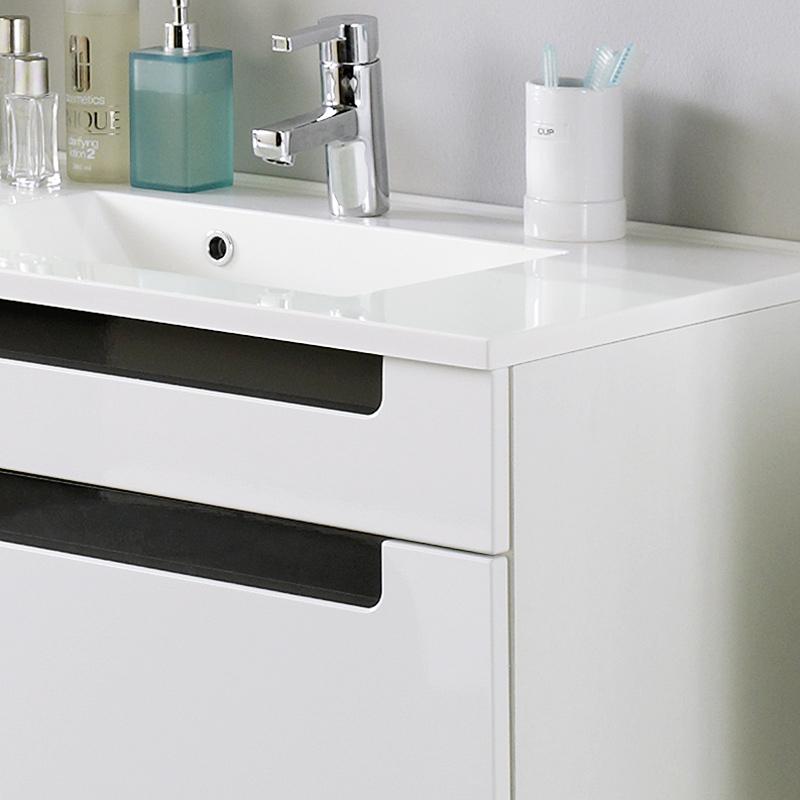 komplett badezimmer set hochglanz wei badm bel badset. Black Bedroom Furniture Sets. Home Design Ideas