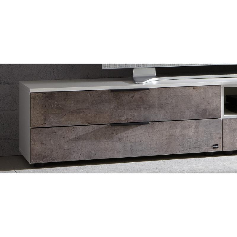 tv unterteil wei beton jugendzimmer wohnzimmer lowboard fernsehschrank tv m bel ebay. Black Bedroom Furniture Sets. Home Design Ideas