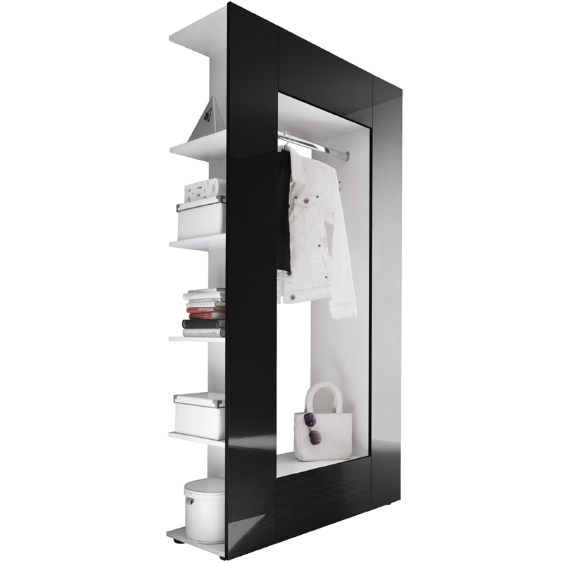 garderobe hochglanz schwarz flurm bel flurgarderobe wandgarderobe schuhschrank ebay. Black Bedroom Furniture Sets. Home Design Ideas