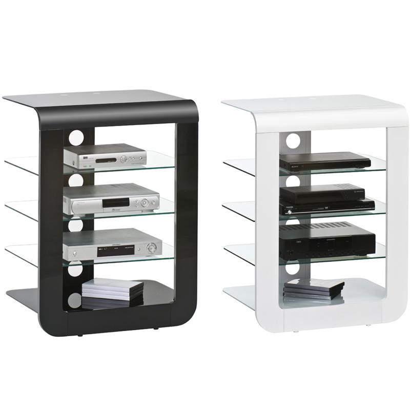 fernsehtisch schwarz wei tv tisch m bel hifi rack. Black Bedroom Furniture Sets. Home Design Ideas
