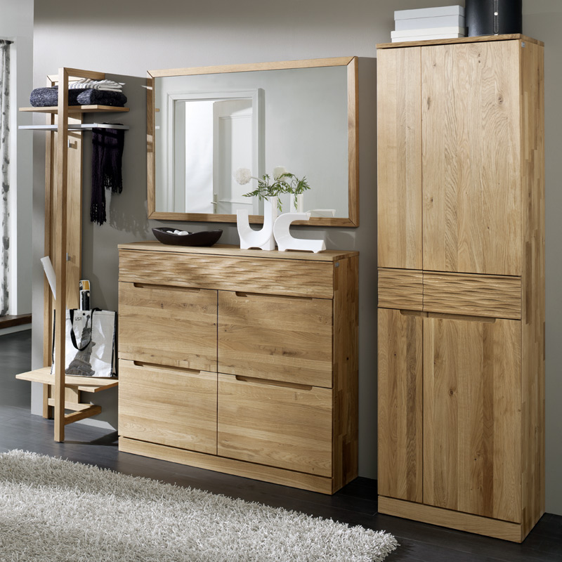 exkl garderoben set wildeiche massiv flurgarderobe. Black Bedroom Furniture Sets. Home Design Ideas